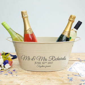 Personalised Wedding Wine Cooler