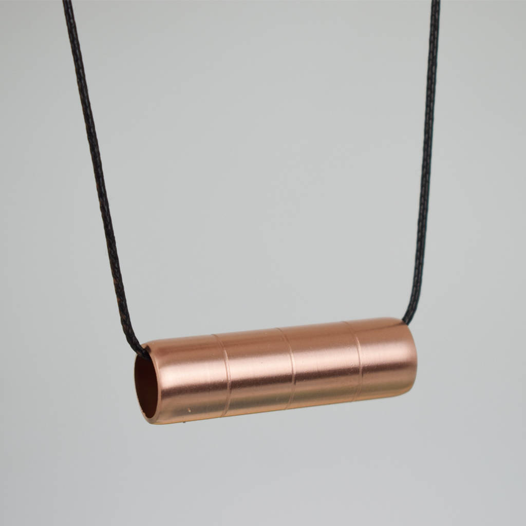 Ridged Copper Bar Necklace