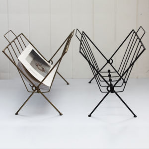 Black Wire Magazine Rack - magazine racks