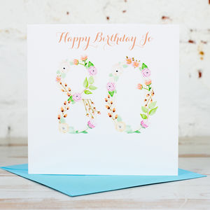 Personalised 80th Birthday Card - birthday cards