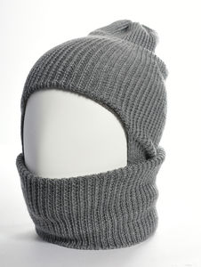 Bowen Merino Wool Grey Balaclava - men's accessories