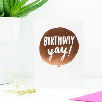 'Birthday Yay!' Greetings Card