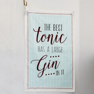 Gin And Tonic Tea Towel - kitchen linen