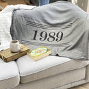Personalised Birth Year Snuggle Blanket