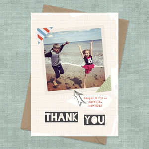 Personalised Instagram Thank You Card A5
