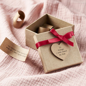 Personalised '10 Things I Love About Mum' Box