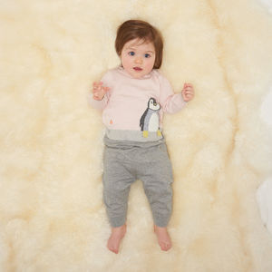 Dopple Penguin Knitted Baby Jumper - jumpers & cardigans