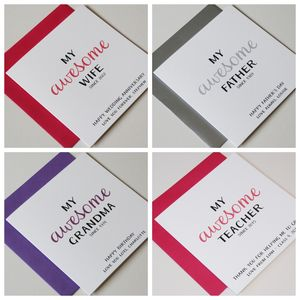 Personalised Occasions 'My Awesome…' Greeting Card - personalised cards