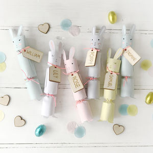 Easter Bunny Rabbit Crackers With Personalised Tags - view all easter