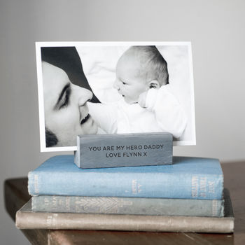 Personalised Slate Photo Holder