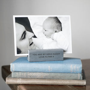 Personalised Slate Photo Holder - gifts for husband or boyfriend