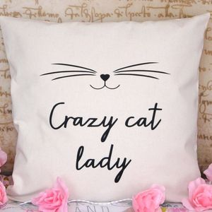 Crazy Cat Lady Cushion Cover - living room