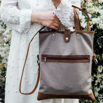 Canvas Foldover Shoulder Bag