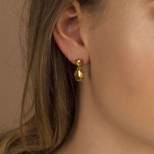 Faceted Gold And Silver Drop Earrings - earrings