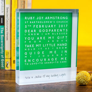 Personalised Godparent Acrylic Block - ornaments