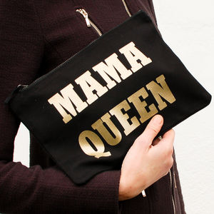 'Mama Queen' Canvas Clutch