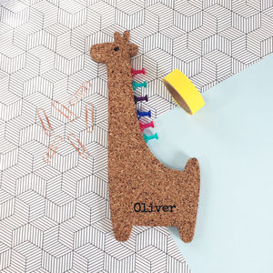 Personalised Cork Memoboard Giraffe - noticeboards