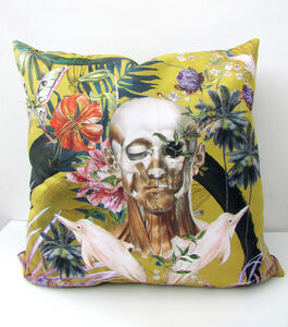 Vegan Suede Watercolour 'Boto' Cushion 60x60cm
