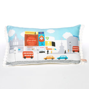 London Town Piccadilly Circus Cushion