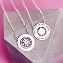 Graduation Necklace Double Sided Personalised Compass