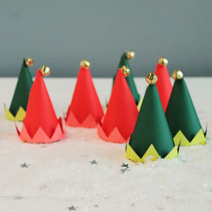Christmas Colourful Elf Party Hats - children's birthday