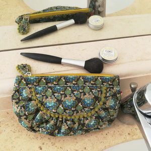 Gondola Waterproof Make Up Bag In Art Nouveau Print