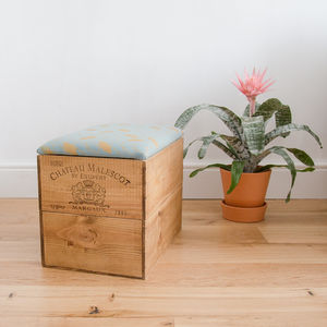 Wine Crate Ottoman For Stylish Seating And Storage