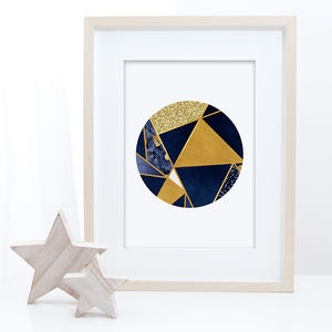 Abstract Geometric Wall Art Print - modern & abstract