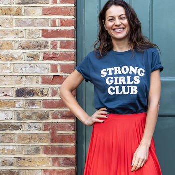 Navy Strong Girls Club T Shirt