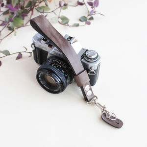 Side Loop Leather Camera Wrist Strap
