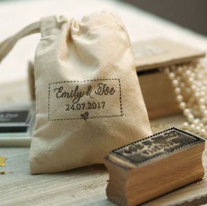 'Personalised Names And Date Stamp' - wedding favours