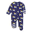 Unisex Navy Blue Tiger Themed Footed Sleepsuit
