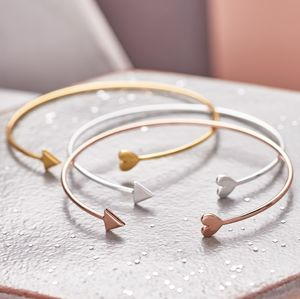 Open Cuff Cupid's Arrow Bangle - bracelets & bangles