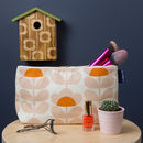 Toiletries Bag, Wash Bag In Orla Kiely Sweet Pea