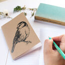 Blue Tit Bird A6 Pocket Notebook