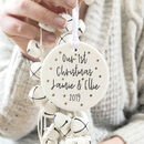 Personalised 'Our First Christmas' Ceramic Tree Bauble