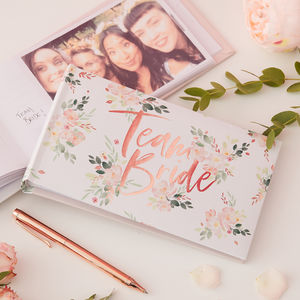 Rose Gold Foiled Hen Party Photo Album