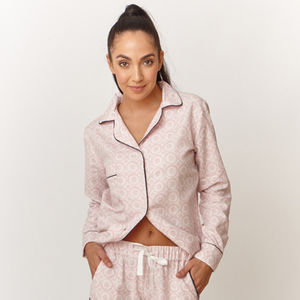 Layla Print Cotton Pyjama Shirt - lingerie & nightwear