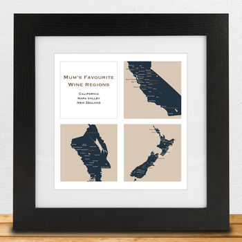 Personalised 'Favourite' Wine Regions Print