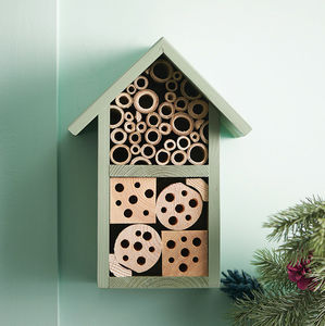 Handmade Two Tier Bee Hotel - gifts for her