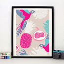 'Pineapples And Parrots' Art Print