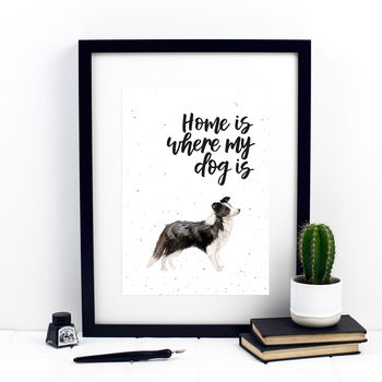 Home Is Where My Dog Is Collie Print