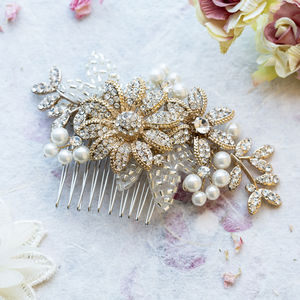 Esme Crystal And Pearl Head Comb