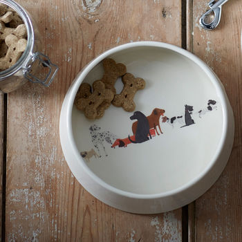 Illustrated Dog Tales Dog Bowl