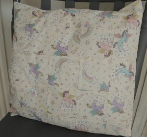 Handmade Patchwork Cushion Cover In Unicorn Fabric