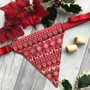 Reversible Handmade Christmas Dog Bandana