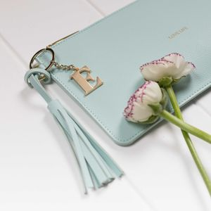 Personalised 'Love Life' Keepsake Clutch In Powder Mint - womens