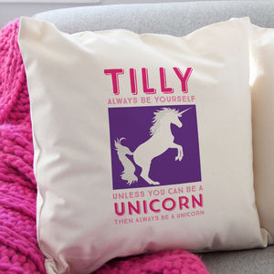Personalised Unicorn Cushion - gifts for teenagers