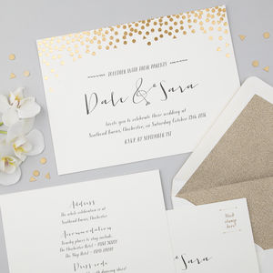 Scatter Invitation Suite - invitations