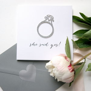 Engagment Card 'She Said Yes'